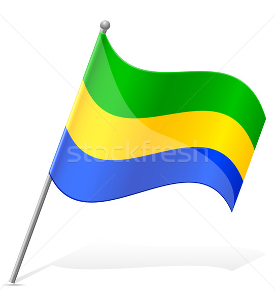 flag of Gabon vector illustration Stock photo © konturvid