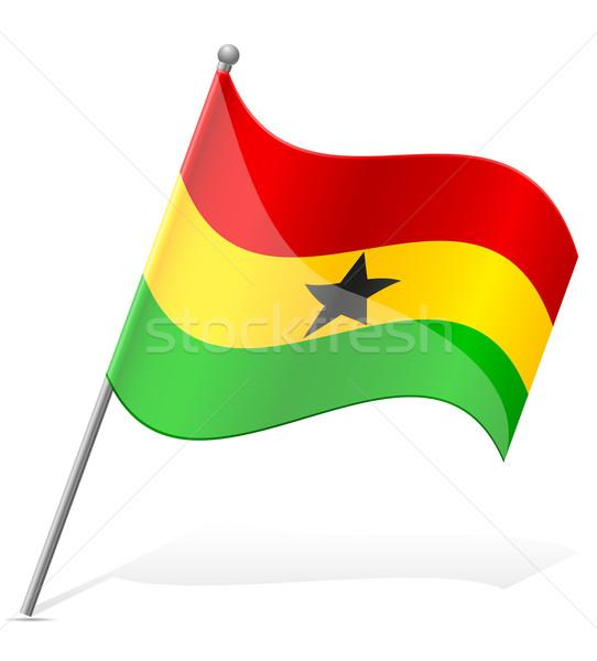 Bandeira Gana isolado branco globo mundo Foto stock © konturvid