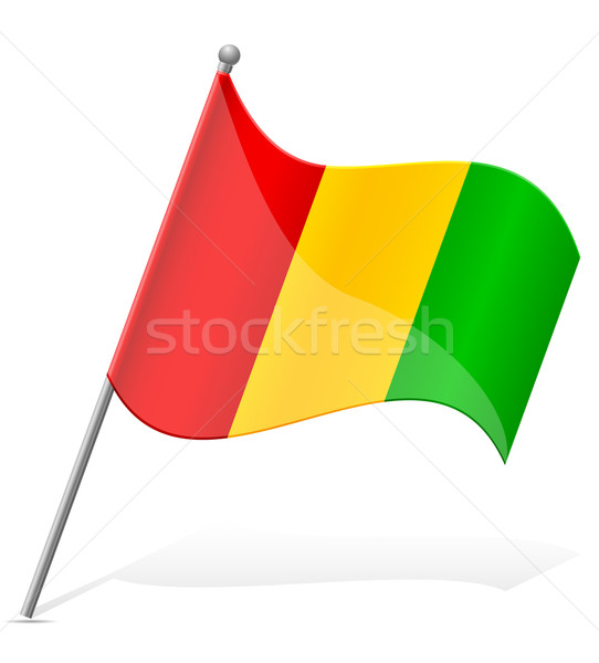 flag of Guinea vector illustration Stock photo © konturvid