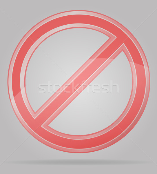 Stock photo: transparent prohibition sign vector illustration
