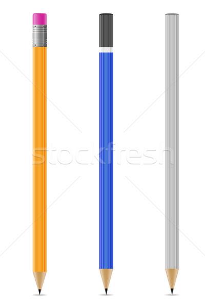 Stock fotó: Ceruzák · izolált · fehér · üzlet · iroda · papír