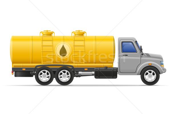 cargo truck with tank for transporting liquids vector illustrati Stock photo © konturvid
