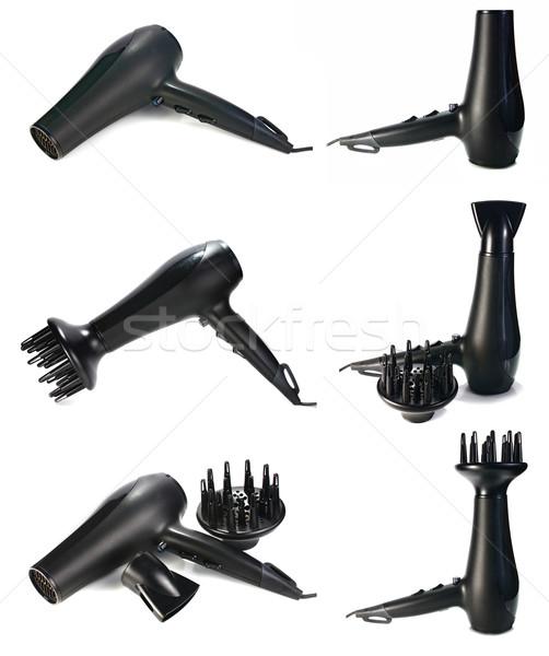 Czarne włosy odizolowany biały piękna czarny elektrycznej Zdjęcia stock © konturvid