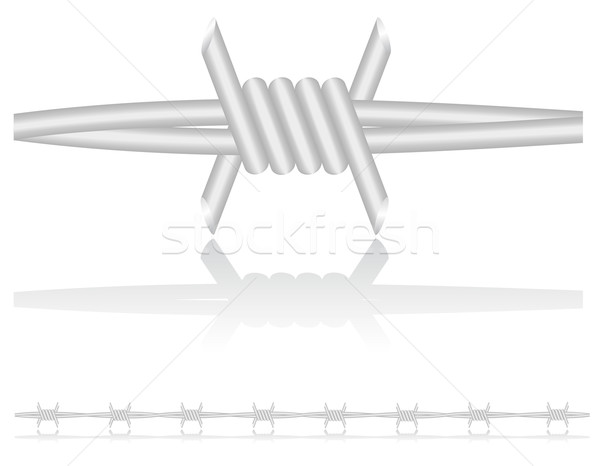 barbed wire vector illustration Stock photo © konturvid