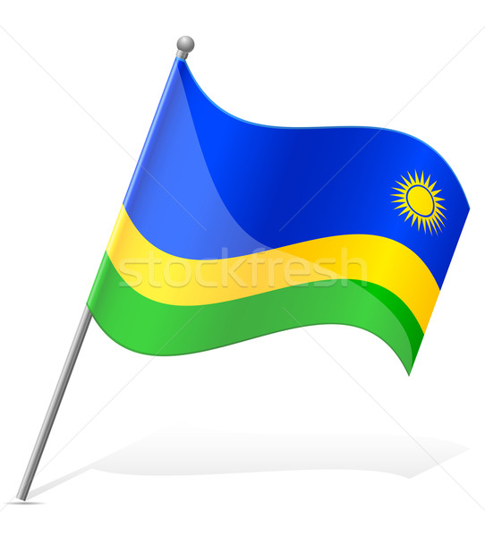 flag of Rwanda vector illustration Stock photo © konturvid