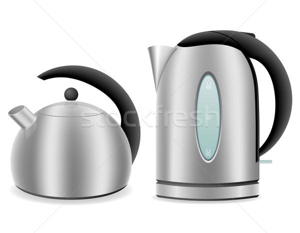 Elektrik gaz yalıtılmış beyaz kahve Stok fotoğraf © konturvid