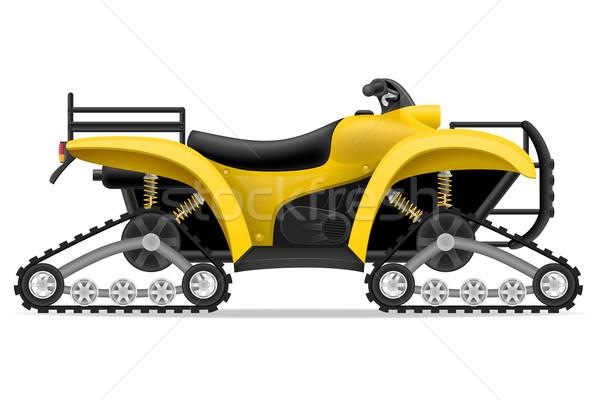 Motorfiets vier af wegen geïsoleerd witte Stockfoto © konturvid
