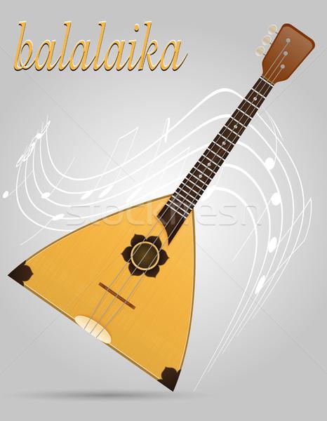 balalaika musical instruments stock vector illustration Stock photo © konturvid