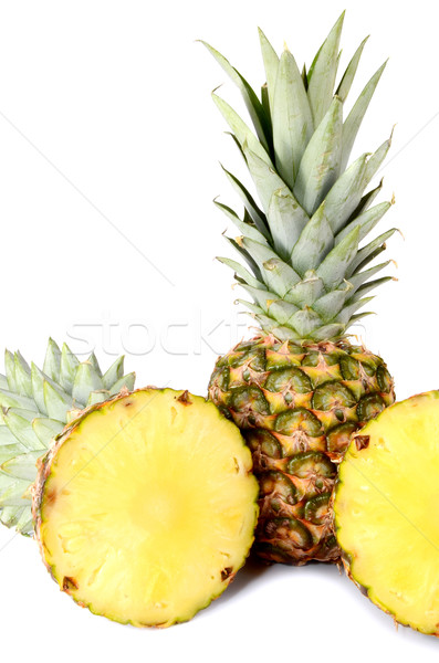 Photo stock: Ananas · isolé · blanche · alimentaire · fond · vert