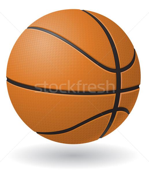 basketball ball vector illustration Stock photo © konturvid