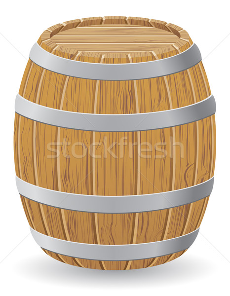 wooden barrel vector illustration Stock photo © konturvid