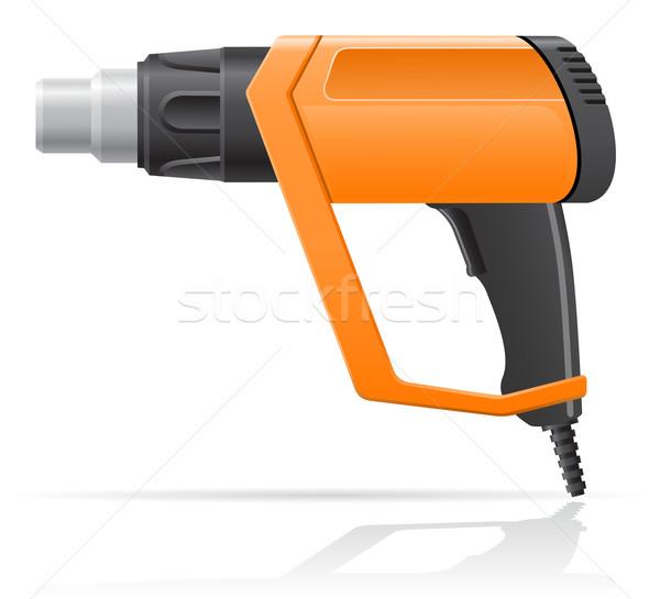 electric building hot air dryer gun vector illustration Stock photo © konturvid