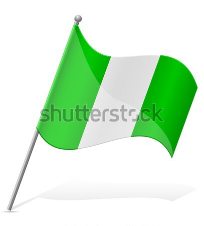 flag of Nigeria vector illustration Stock photo © konturvid