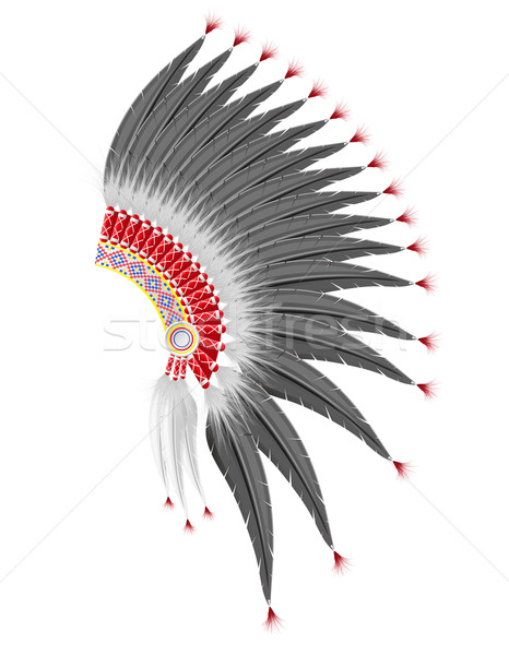 mohawk hat of the american indians vector illustration Stock photo © konturvid