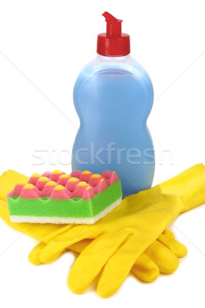 Objecten wassen schoonmaken omhoog keuken huis Stockfoto © konturvid