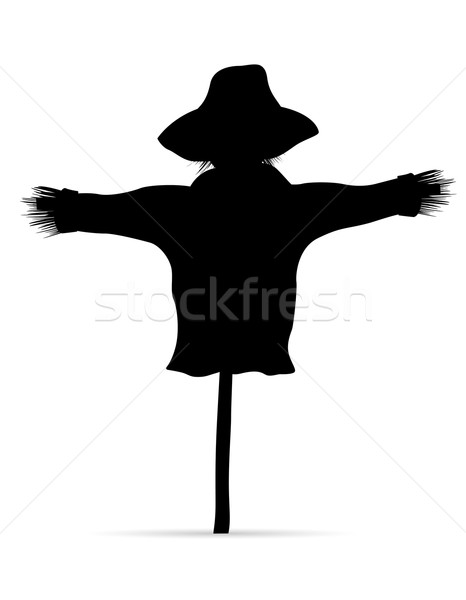 scarecrow black silhouette vector illustration Stock photo © konturvid