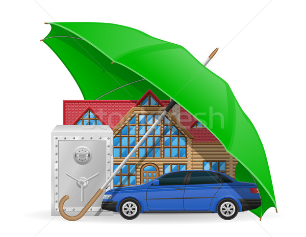 insurance concept protected umbrella vector illustration Stock photo © konturvid