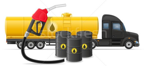Kamyon teslim taşımacılık yakıt taşıma yalıtılmış Stok fotoğraf © konturvid