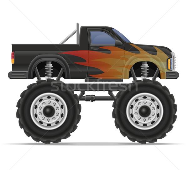 monster truck car pickup vector illustration Stock photo © konturvid