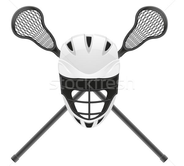 lacrosse equipment vector illustration Stock photo © konturvid