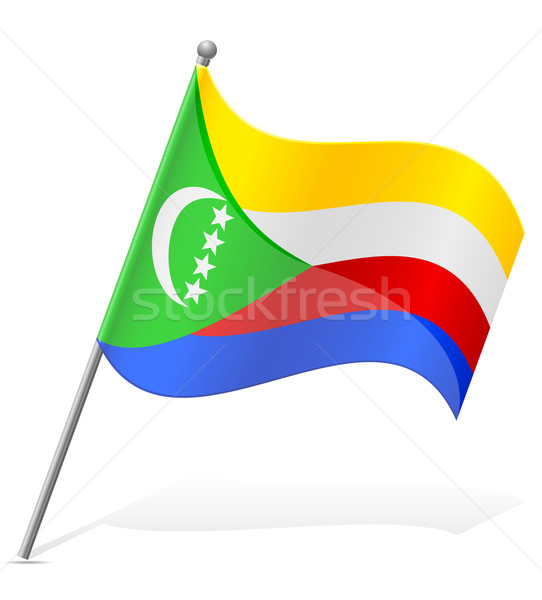 flag of Comoros vector illustration Stock photo © konturvid