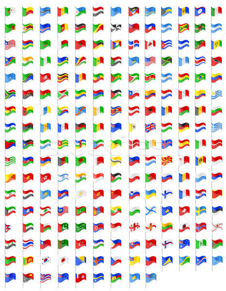 set icons flags of the world countries vector illustration Stock photo © konturvid