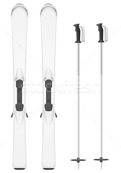 skis mountain vector illustration Stock photo © konturvid