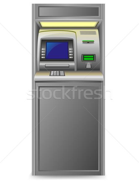 Atm geïsoleerd witte geld technologie toetsenbord Stockfoto © konturvid