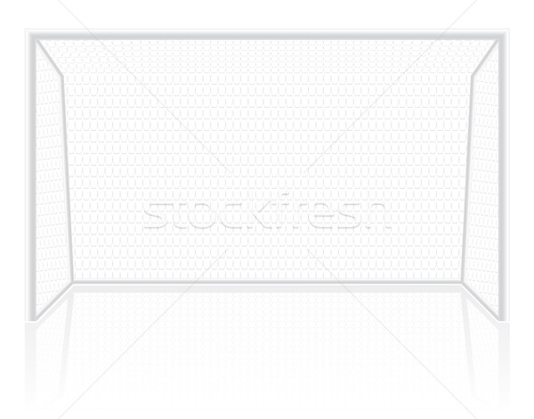 football soccer gates goalie vector illustration Stock photo © konturvid