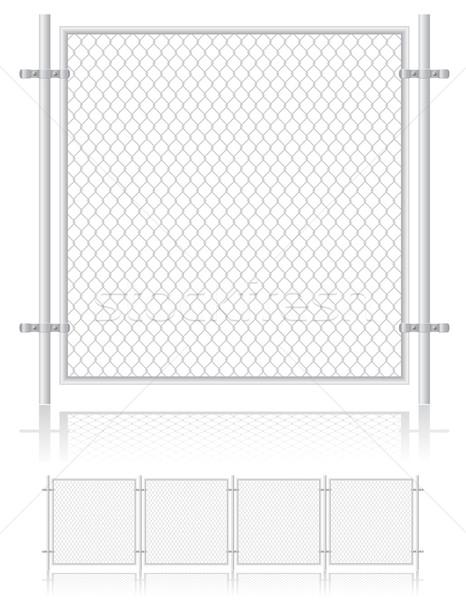 fence made of wire mesh vector illustration Stock photo © konturvid