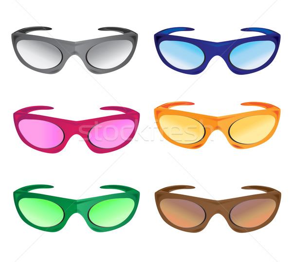 much colors sunglasses Stock photo © konturvid