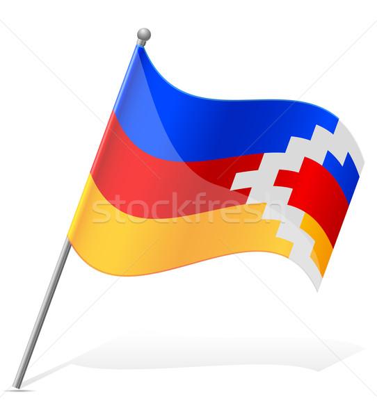 flag of Nagorno Karabakh Republic vector illustration Stock photo © konturvid