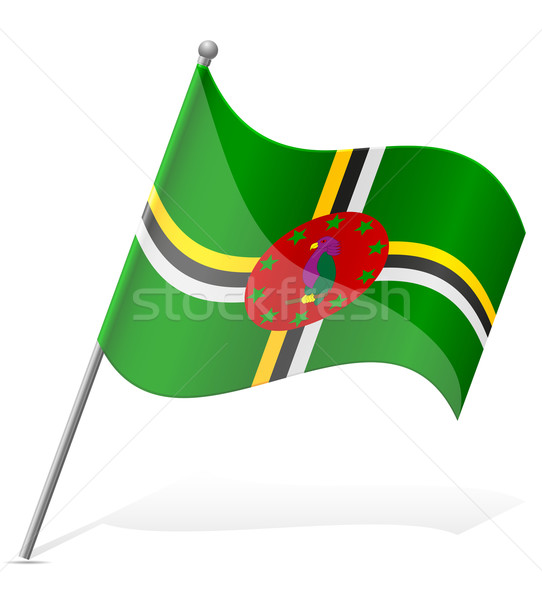 Bandeira Dominica isolado branco globo mundo Foto stock © konturvid