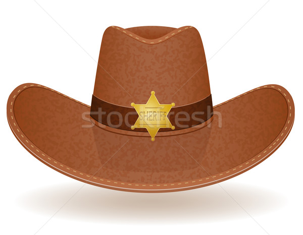 cowboy hat sheriff vector illustration Stock photo © konturvid
