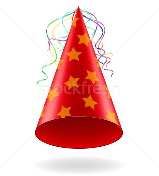 cap for birthday celebrations vector illustration Stock photo © konturvid