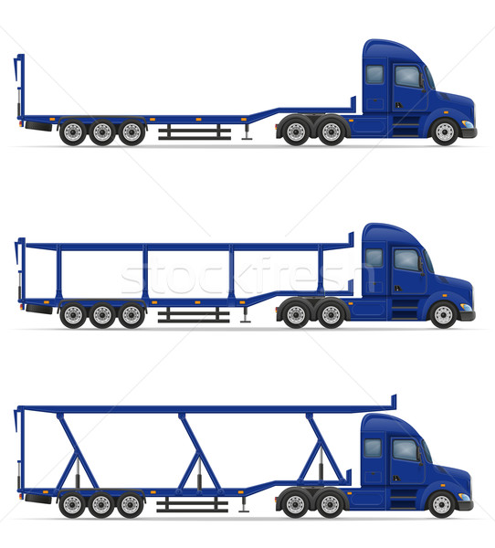 truck semi trailer for transportation of goods vector illustrati Stock photo © konturvid