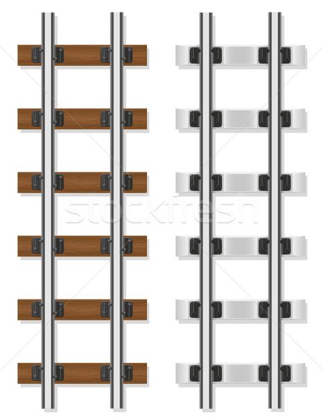 Ferrovia concreto isolado branco metal Foto stock © konturvid