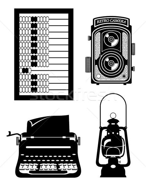 objects old retro vintage icon stock vector illustration Stock photo © konturvid