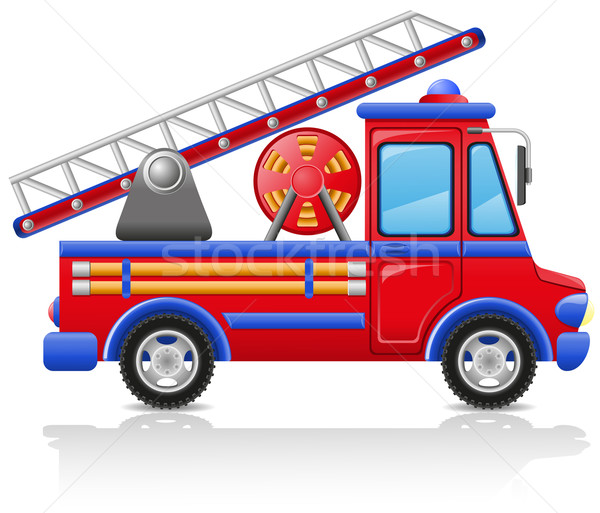 fire truck vector illustration Stock photo © konturvid