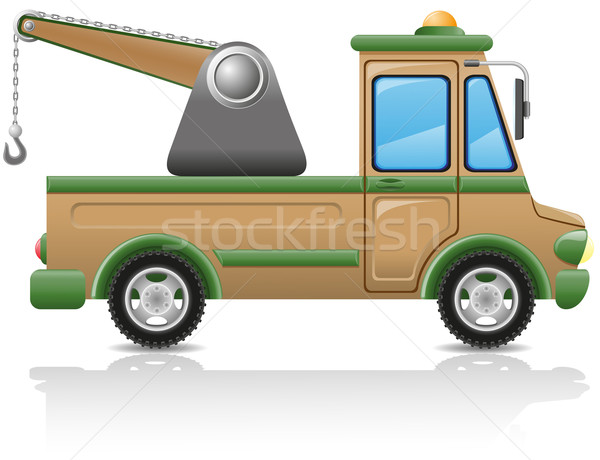 car tow vector illustration Stock photo © konturvid