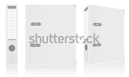 folder white binder metal rings for office vector illustration Stock photo © konturvid