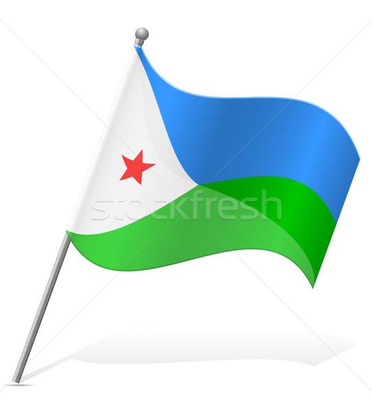 flag of Djibouti vector illustration Stock photo © konturvid