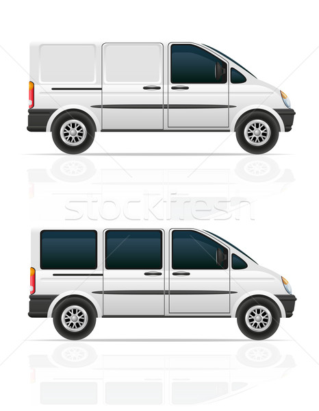 van for the carriage of cargo and passengers vector illustration Stock photo © konturvid