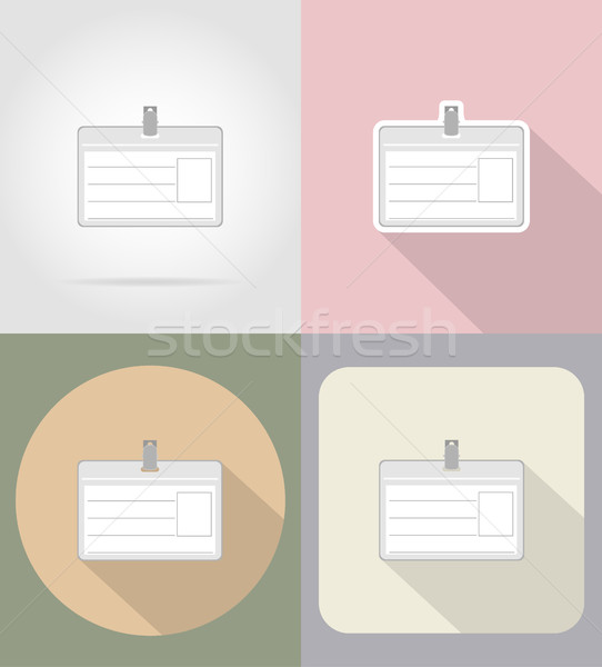 identification card flat icons vector illustration Stock photo © konturvid