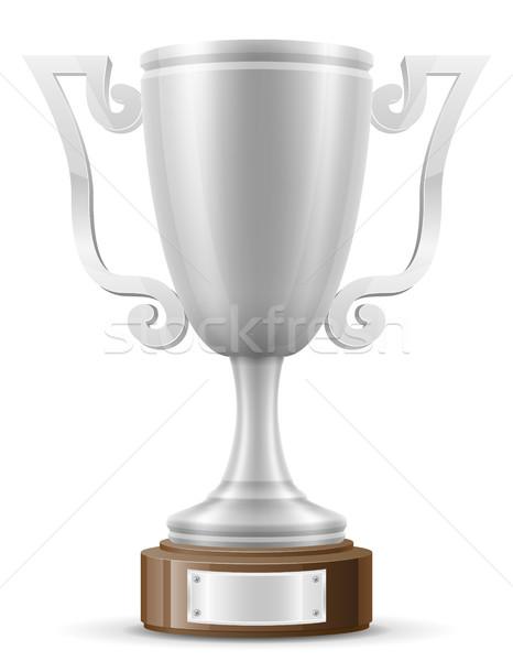 cup winner silver stock vector illustration Stock photo © konturvid