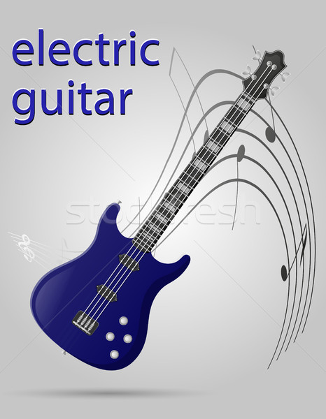 electric guitar musical instruments stock vector illustration Stock photo © konturvid
