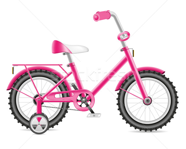 kids bicycle for a girl vector illustration Stock photo © konturvid