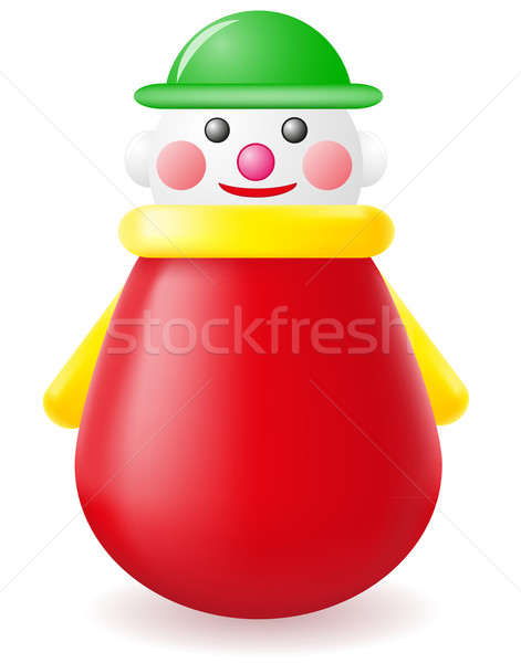 roly-poly doll toy vector illustration Stock photo © konturvid