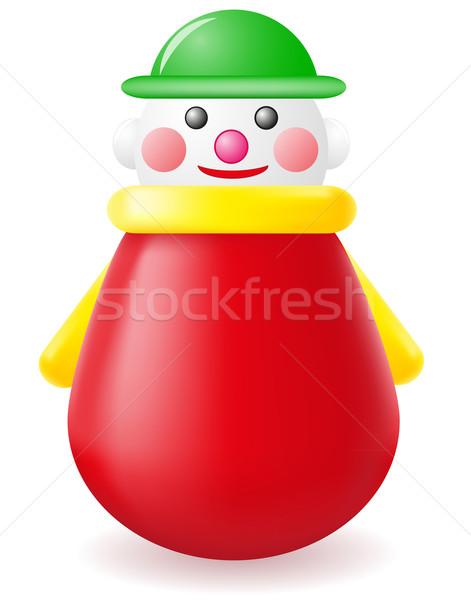 Bebek oyuncak yalıtılmış beyaz çocuklar kırmızı Stok fotoğraf © konturvid