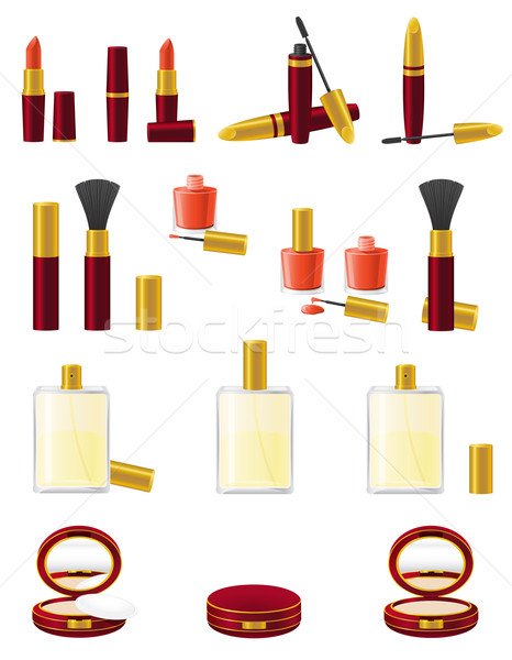 Stock photo: set icons cosmetics vector illustration